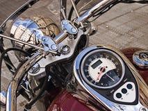 Het detail van de motorfiets stock afbeeldingen