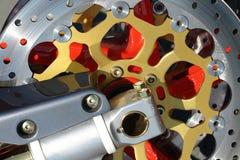 Het detail van de motorfiets Stock Afbeelding