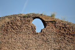 Het detail van de muur in Terme Di Caracalla Royalty-vrije Stock Foto