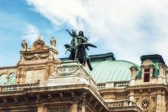 Het detail van het de Operahuis van Wenen royalty-vrije stock foto's