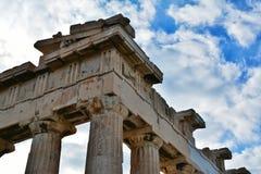 Het detail van de Parthenonarchitectuur, Athene Stock Foto's