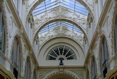 Het detail van de Passagepommeraye van Nantes Stock Afbeeldingen