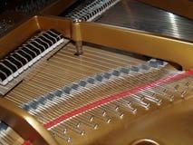 Het detail van de piano Stock Fotografie