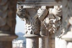 Het detail van de pijler Stock Afbeeldingen