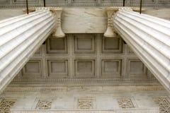 Het Detail van de pijler en van het Plafond Stock Foto