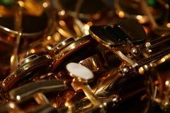 Het detail van de saxofoon Stock Fotografie
