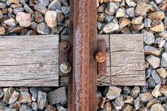 Het detail van de spoorafhankelijkheid Stock Foto's