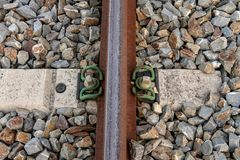 Het detail van de spoorafhankelijkheid Stock Afbeelding