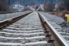 Het detail van de spoorweg Stock Foto's