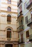 Het detail van de straatbuidings van Valencia calle del Mar Stock Afbeelding