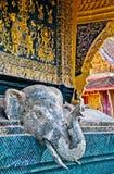 Het Detail van de tempel, Laos Stock Afbeelding