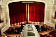 Het detail van de theaterschijnwerper Stock Afbeeldingen