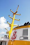 Het detail van de veerboot in Istanboel Royalty-vrije Stock Afbeeldingen