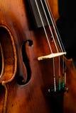 Het detail van de viool Stock Foto