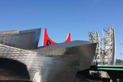 Het detail van de voorgevel van Guggenheim Royalty-vrije Stock Foto
