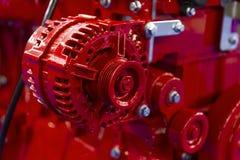 Het detail van de vrachtwagenmotor royalty-vrije stock afbeelding