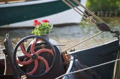 Het detail van de wielstoomboot Stock Foto's