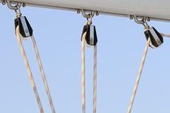 Het detail van de zeilboot Royalty-vrije Stock Fotografie