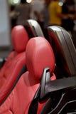 Het detail van de zetel van sport-auto Stock Afbeeldingen