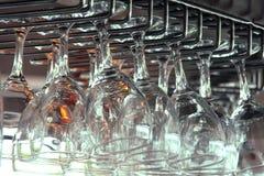 Het detail van glazen Stock Foto