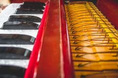 Het Detail van het harmoniuminstrument stock foto