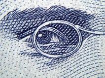 Het detail van het bankbiljet Stock Foto