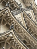 Het detail van het dak, het Kasteel van Himeji, Japan stock foto