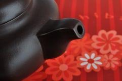 Het detail van het deel van Chinees theeaardewerk Stock Fotografie