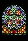 Het detail van het gebrandschilderd glas royalty-vrije stock afbeelding