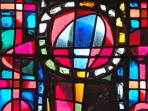 Het detail van het gebrandschilderd glasvenster Stock Foto's