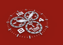 Het detail van het horloge in blauwe 3D Stock Afbeeldingen