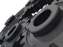 Het detail van het mechanisme Stock Foto's