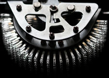 Het detail van het metaal Stock Foto