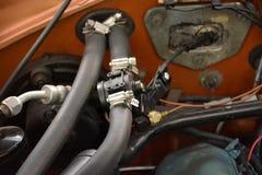 Het detail van het motorcompartiment Stock Afbeelding