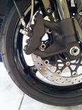 Het detail van het motorfietswiel royalty-vrije stock fotografie