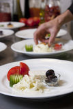 Het detail van het restaurant Stock Foto's