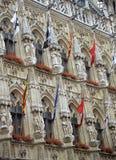 Het Detail van het Stadhuis van Leuven Stock Afbeeldingen