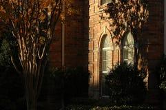Het detail van het venster van huis stock afbeelding