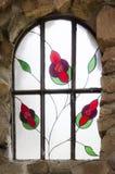 Het detail van het vlekglas bij Bischoppenkasteel in Colorado royalty-vrije stock foto's