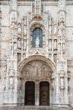 Het detail van Hieronymites-Klooster (Mosteiro-Dos Jeronimos) bepaalt van de plaats Stock Afbeeldingen