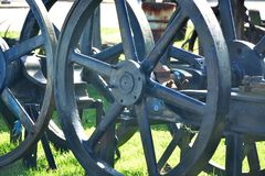 Het detail van het ijzerwiel stock fotografie