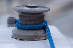 Het detail van het Jacht van de Kruk en van de Kabel van de zeilboot yachting royalty-vrije stock fotografie