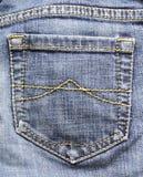 Het detail van jeans Stock Afbeelding