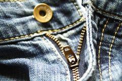 Het detail van jeans Stock Foto