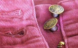 Het detail van jeans Stock Fotografie