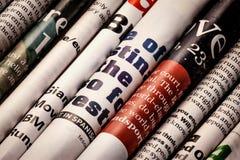 Het detail van kranten Stock Foto's