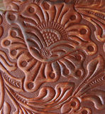 Het detail van Leatherwork Royalty-vrije Stock Fotografie
