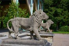 Het detail van leeuwstandbeelden in Josheps-Kruis in Stolberg Harz royalty-vrije stock afbeelding