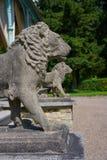 Het detail van leeuwstandbeelden in Josheps-Kruis in Stolberg Harz royalty-vrije stock afbeeldingen