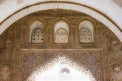 Het detail van het Nasridpaleis stock afbeelding